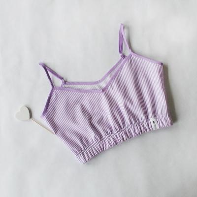 Топ в фиолетово-белую полоску