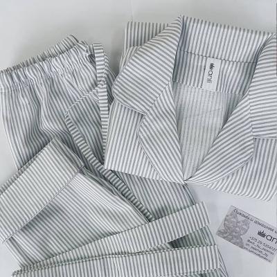 Пижамный жакет серо-белая полоска