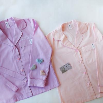 Пижамный жакет светло-розовый однотон