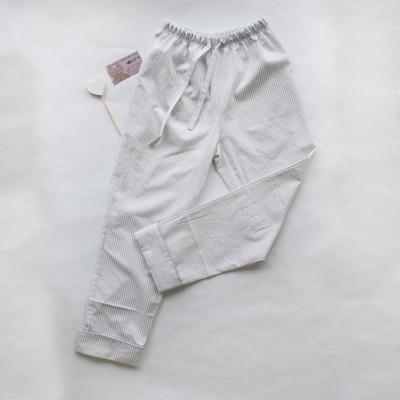 Пижамные брюки серо-белая полоска