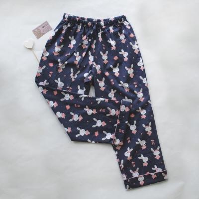Пижамные брюки зайцы балерины на синем фоне