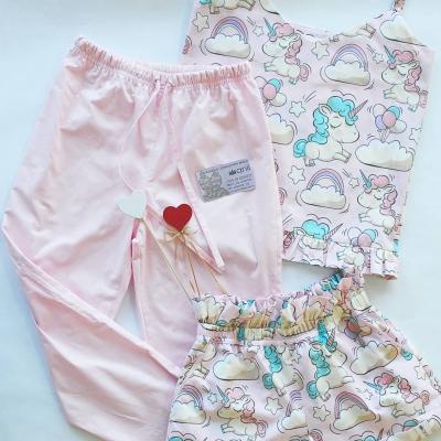 Пижамные брюки светло-розовый однотон