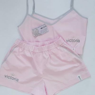 Домашние шорты с карманами светло-розовый однотон