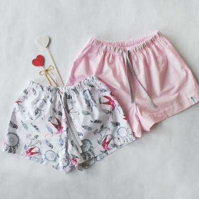 Пижамные шорты светло-розовый однотон