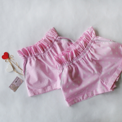"""""""Paradise"""" шорты звезды на розовом фоне"""