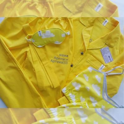 Пижамный жакет желтый однотон
