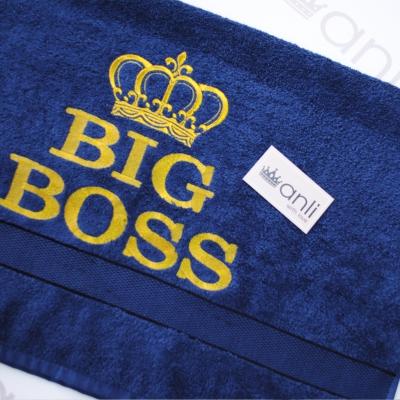"""Махровое банное полотенце с вышивкой """"Big Boss"""""""