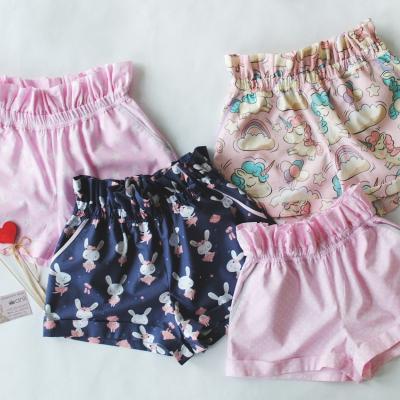 """Paradise"" шорты горошек на розовом фоне"