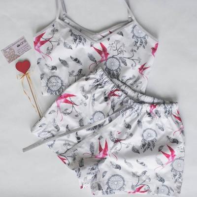 Пижамные шорты ловец снов и ласточки