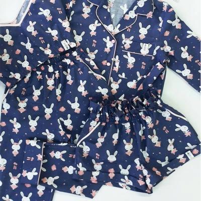 Брюки с карманами зайцы балерины на синем фоне