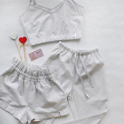 """""""Paradise"""" шорты серо-белая полоска"""