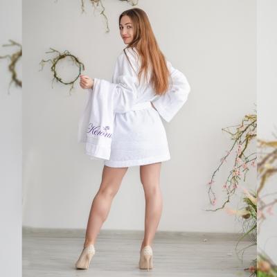 Махровый халатик mini белый