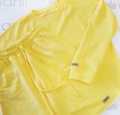 Oversize свитшот свободного кроя желтого цвета
