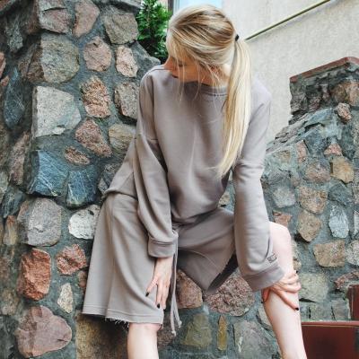 Шорты с карманами в стиле сафари цвета визон