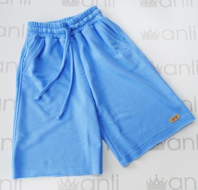 Шорты с карманами в стиле сафари небесно-голубого цвета