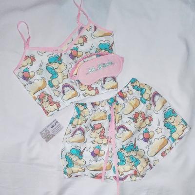 Пижамные шорты единороги на белом фоне